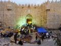 Begin van de avond in Jeruzalem aan gekomen.